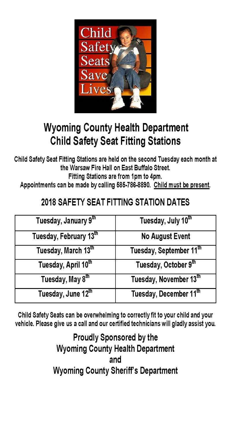 2018 Child Safety Seat Clinics